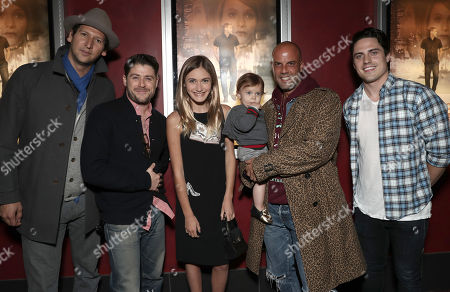 Stock Image of Med Abrous and Director/Actor Jon Abrahams, Nicole Elizabeth Berger, Christian George and Daniel Colvin