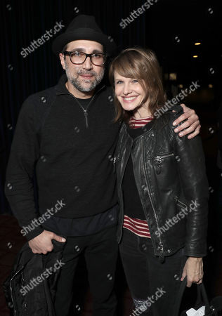 Writer Michael Testone and Kathryn Morris