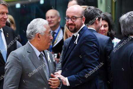 Charles Michel and Antonio Costa