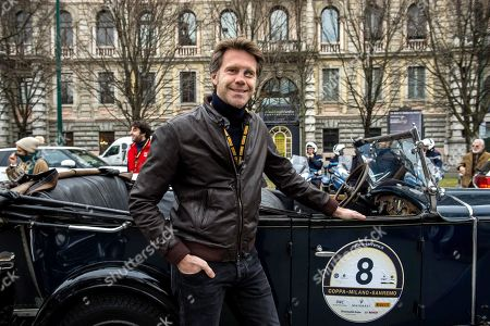 Prince Emanuele Filiberto during the historical reenactment of the Milano to San Remo Cup