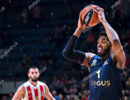 Center Jason Thompson of Fenerbahce Dogus Istanbul in action with the ball