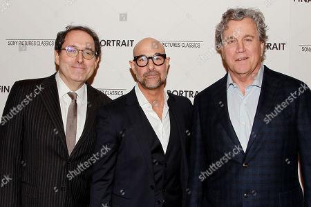 Michael Barker, Stanley Tucci and Tom Bernard
