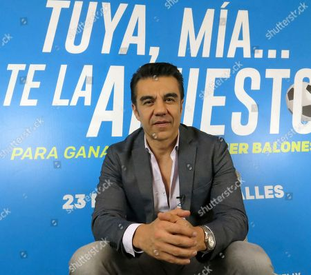 "Stock Photo of Mexican actor Adrian Uribe poses for a portrait in Mexico City. Uribe plays an extreme soccer fan at the film ""Tuya, mía... Te la apuesto"" which premieres on march 22 in Mexico"