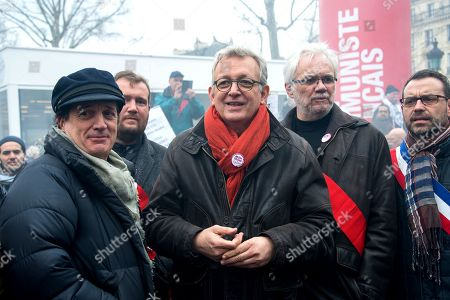 Francis Lalanne and Pierre Laurent, National secretary of Communist Party