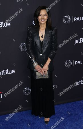 "Tamlyn Tomita, a cast member in the television series ""The Good Doctor"" arrives at the 35th Annual PaleyFest at the Dolby Theatre, in Los Angeles"