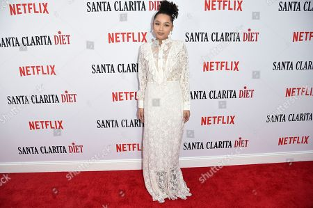 "Jaylen Barron attends the LA Premiere of ""Santa Clarita Diet"" Season 2 at ArcLight Hollywood, in Los Angeles"
