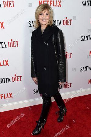 "Markie Post attends the LA Premiere of ""Santa Clarita Diet"" Season 2 at ArcLight Hollywood, in Los Angeles"
