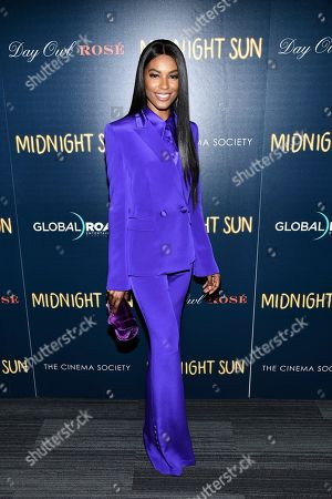 "Sharam Diniz attends a screening of ""Midnight Sun"" hosted by The Cinema Society at the Landmark at 57 West, in New York"