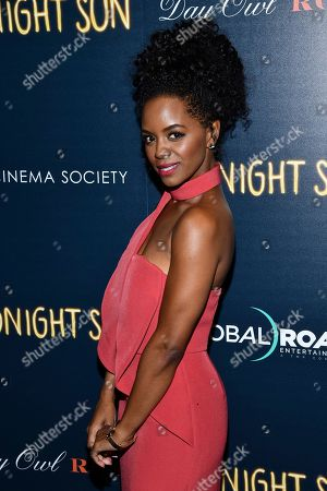 "Stock Picture of Krystal Brown attends a screening of ""Midnight Sun"" hosted by The Cinema Society at the Landmark at 57 West, in New York"