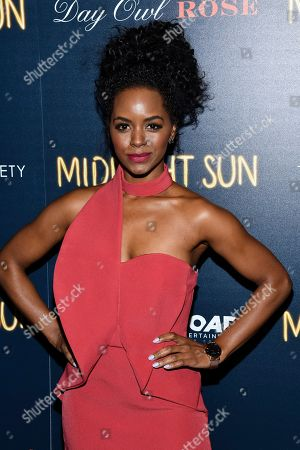 "Stock Image of Krystal Brown attends a screening of ""Midnight Sun"" hosted by The Cinema Society at the Landmark at 57 West, in New York"