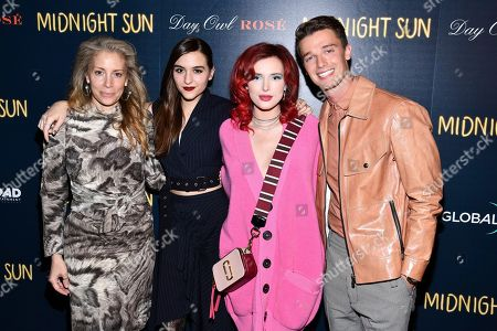 "Jen Gatien, Quinn Shephard, Bella Thorne, Patrick Schwarzenegger. Jen Gatien, left, Quinn Shephard, Bella Thorne and Patrick Schwarzenegger attend a screening of ""Midnight Sun"" hosted by The Cinema Society at the Landmark at 57 West, in New York"