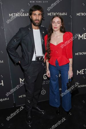 Rel Schulman, Hailey Gates. Rel Schulman, left, and Hailey Gates attend the second year anniversary of Metrograph, in New York