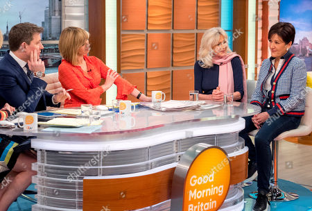 Stock Photo of Ben Shephard and Kate Garraway with Liz Brewer and Marilyn Stowe