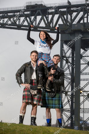 Scottish Ballet's Nicholas Shoesmith (soloist) and Glasgow-born Jamie Reid (artist) who are both performing in Matthew Bourne's Highland Fling were Clyde-side with Kiltwalk's Yvonne Kincaid, as they called upon Scots to participate in the Glasgow Kiltwalk