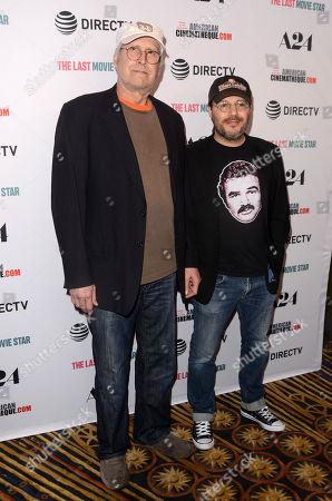 Chevy Chase and Adam Rifkin