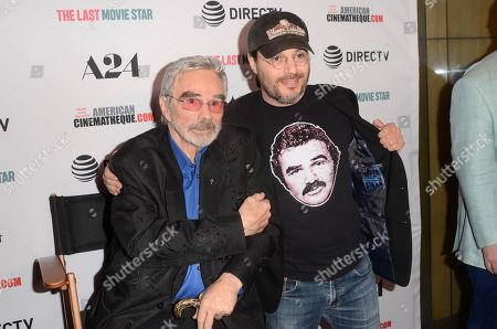 Stock Picture of Burt Reynolds and Adam Rifkin