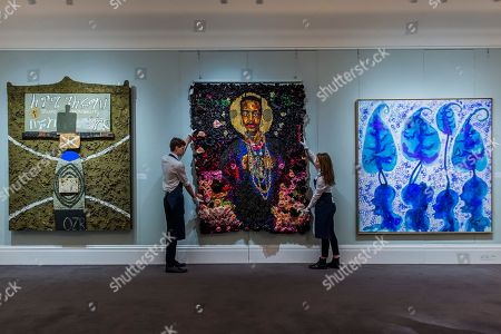Editorial photo of Modern and Contemporary African Art at Sotheby's, London, UK - 23 Mar 2018