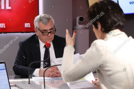 Editorial image of Thierry Herzog interviewed on RTL Radio, Paris, France - 23 Mar 2018