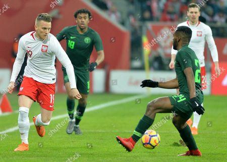 Piotr Zielinski of Poland and Brian Idowu of Nigeria