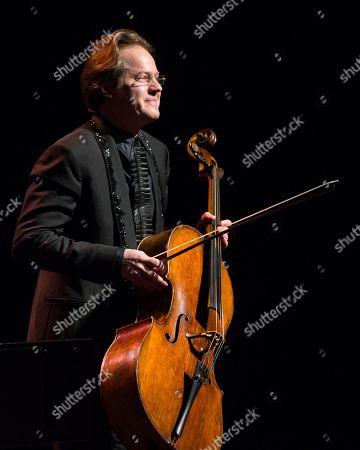 Cellist Jan Vogler performs onstage