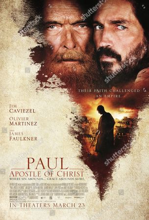Paul, Apostle of Christ (2018) Poster Art. James Faulkner, Jim Caviezel