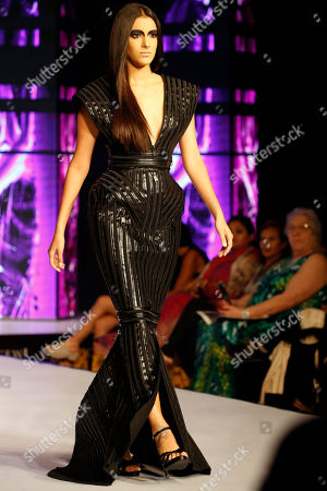 A model presents a creation by French designer Eymeric Francois during the Colombo Fashion Week at Hilton Hotel in Colombo, Sri Lanka 23 March 2018. The Colombo Fashion Week runs until 25 March.