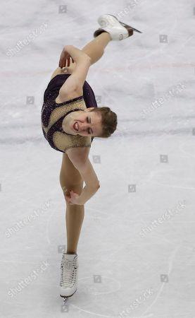 Carolina Kostner of Italy performs during the women's free skating program