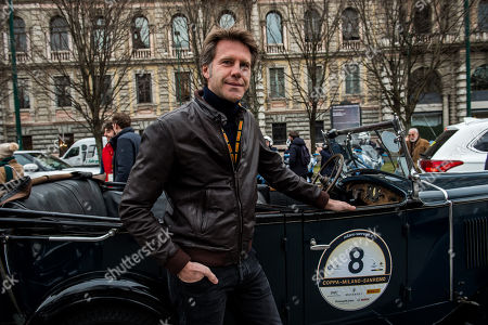 Prince Emanuele Filiberto at the historical reenactment of the Milano to San Remo Cup