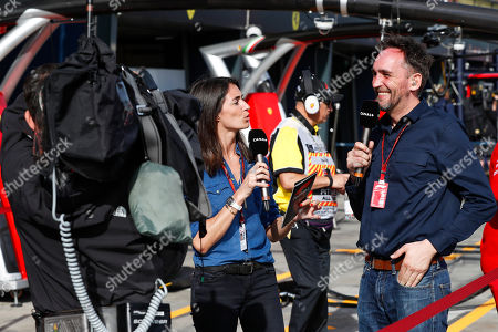 LAFFITE Margot, MONTAGNY Franck (fra), TV presenter commentateur Canal+, portrait during 2018 Formula 1 championship at Melbourne, Australian Grand Prix, from March 22 To 25 - s: FIA Formula One World Championship 2018, Melbourne, Victoria : Motorsports: Formula 1 2018 Rolex Australian Grand Prix,