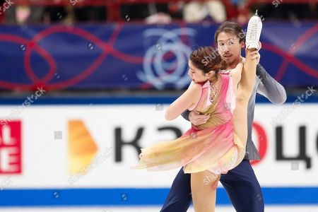 Kana Muramoto / Chris Reed of Japan perform during the Ice Dance - Free Dance of the 2018 ISU World Figure Skating Championships at the Mediolanum Forum in Assago (Milano), Italy, 24 March 2018.