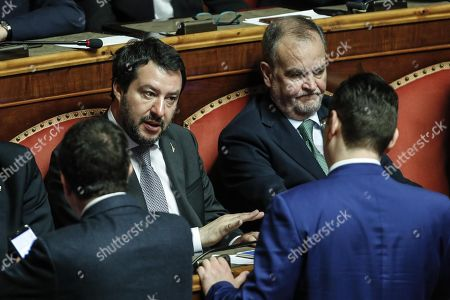 Matteo Salvini and Roberto Calderoli