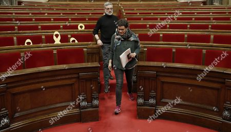 Editorial image of Plenary session in Catalan Parliament goes on but with no inauguration vote, Barcelona, Spain - 24 Mar 2018