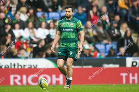 James Marshall of London Irish during the Aviva Premiership Rugby match between London Irish and Gloucester Rugby at Madejski Stadium on March 24th 2018 in Reading, Berkshire, England. (Photo by Gareth Davies/PPAUK)