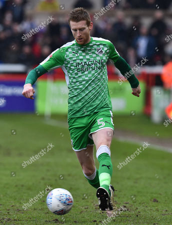 Chris Robertson (5) of Swindon Town during the EFL Sky Bet League 2 match between Exeter City and Swindon Town at St James' Park, Exeter. Picture by Graham Hunt