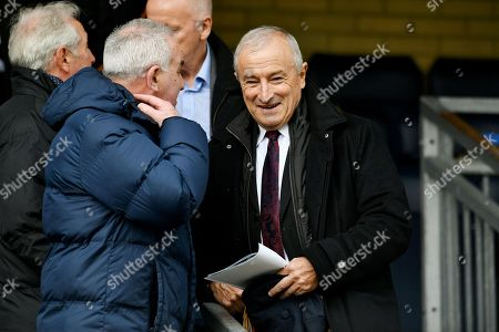 Sports broadcaster Jim Rosenthal during the EFL Sky Bet League 2 match between Wycombe Wanderers and Port Vale at Adams Park, High Wycombe. Picture by Alistair Wilson