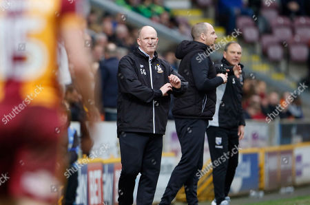 Simon Grayson Bradford City's First Team Manager during the EFL Sky Bet League 1 match between Bradford City and Gillingham at the Northern Commercials Stadium, Bradford. Picture by Paul Thompson