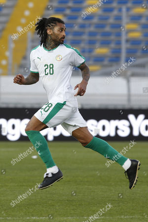 Senegal player Armand Traore is pictured during a friendly soccer match between Senegal and Uzbekistan in Casablanca, Morocco