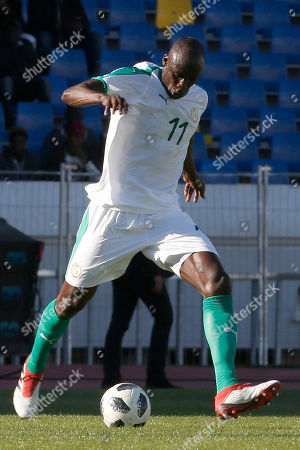 Senegal player Cheikh Ndoye is pictured during a friendly soccer match between Senegal and Uzbekistan in Casablanca, Morocco