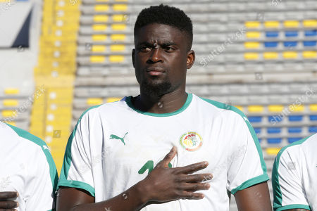 Senegal player Alfred Ndiaye is pictured during a friendly soccer match between Senegal and Uzbekistan in Casablanca, Morocco