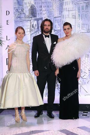 Charlotte Casiraghi, Dimitri Rassam and Princess Alexandra