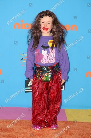 Editorial picture of Nickelodeon Kids' Choice Awards, Arrivals, Los Angeles, USA - 24 Mar 2018