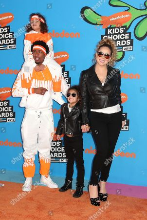 Nick Cannon, Moroccan Cannon, Monroe Cannon and Mariah Carey