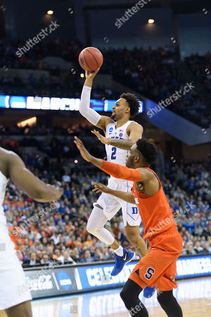 Omaha, NE U.S. - Duke Blue Devils guard Gary Trent Jr. #2 in action during the Sweet 16 NCAA men's basketball game between #11 Syracuse Orange and #3 Duke Blue Devils at the CenturyLink Center in Omaha, NE..Attendance: 17399.Duke won 69-65