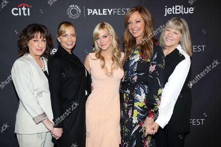 Beth Hall, Jaime Pressly, Anna Faris, Allison Janney and Mimi Kennedy