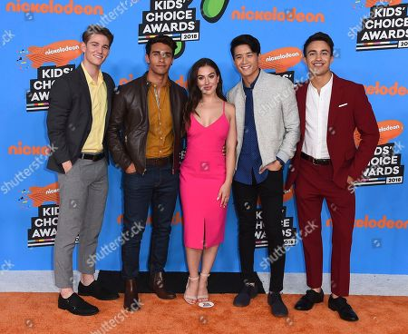 Nico Greetham, Jordi Webber, Chrysti Ane, Peter Sudarso, William Shewfelt. Nico Greetham, from left, Jordi Webber, Chrysti Ane, Peter Sudarso, and William Shewfelt arrive at the Kids' Choice Awards at The Forum, in Inglewood, Calif