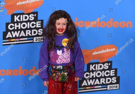 Editorial photo of 2018 Kids' Choice Awards - Arrivals, Inglewood, USA - 24 Mar 2018