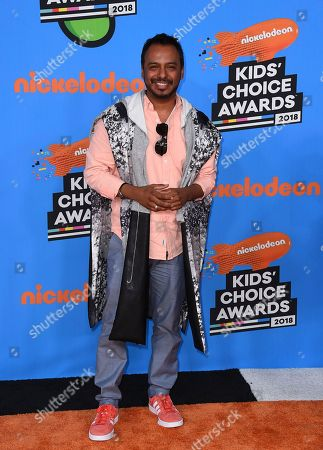 Stock Image of Carlos Moreno Jr. arrives at the Kids' Choice Awards at The Forum, in Inglewood, Calif