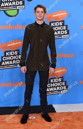 Jace Norman arrives at the Kids' Choice Awards at The Forum, in Inglewood, Calif