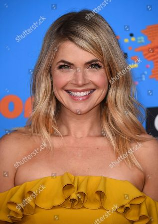 Stevie Nelson arrives at the Kids' Choice Awards at The Forum, in Inglewood, Calif