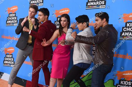 Nico Greetham, William Shewfelt, Chrysti Ane, Peter Sudarso, Jordi Webber. Nico Greetham, from left, William Shewfelt, Chrysti Ane, Peter Sudarso, and Jordi Webber arrive at the Kids' Choice Awards at The Forum, in Inglewood, Calif